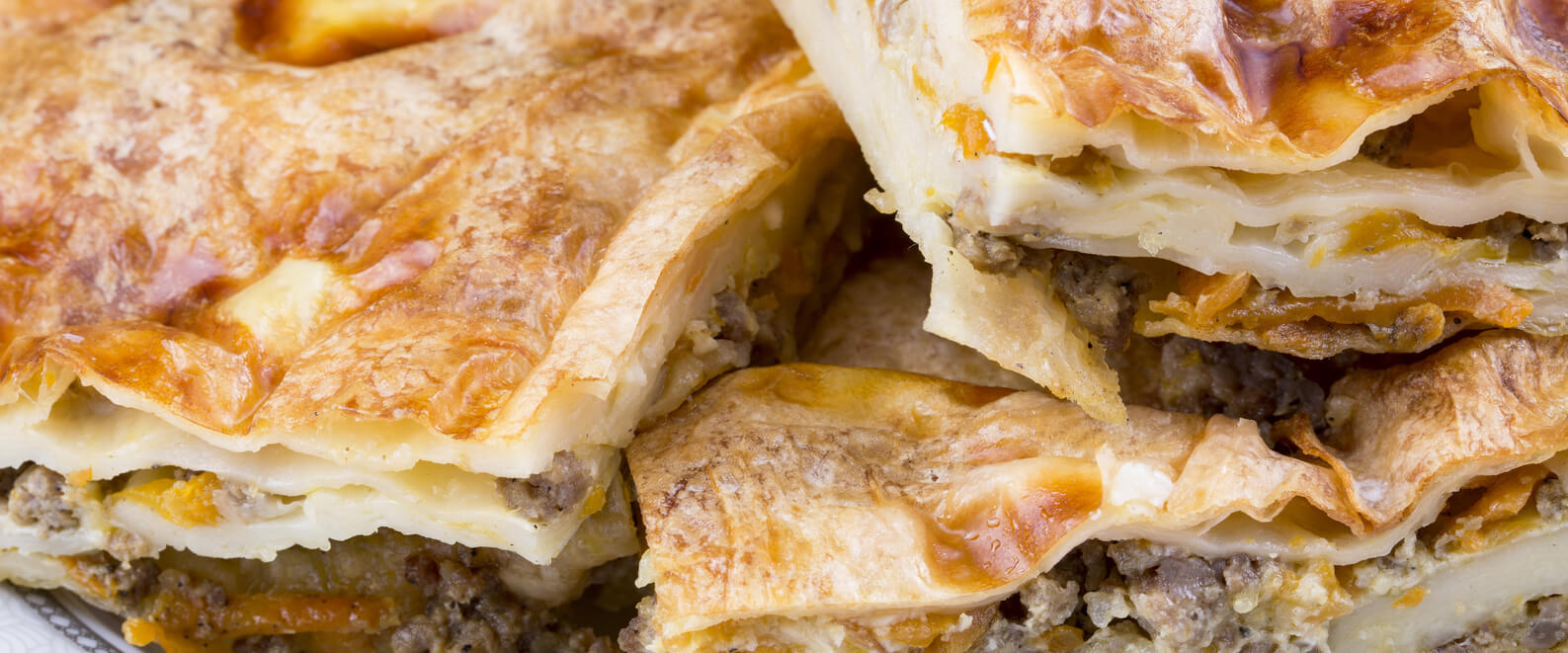 burek with ground beef